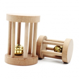 Drewna papuga zabawki do żucia z dzwonkiem dla ptaki papugi szlifowanie zabawki chomika grzechotka gryźć zabawki dla chomika