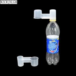 2 sztuk z przenośne plastikowe przezroczysta butelka na wodę karmnik dla ptaków drobiu gołębi waterer akcesoria