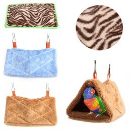 1 pc ptak papuga pluszowa hamak ciepłe wiszące łóżko jaskinia klatka Hut namiot domek zabawkowy 3 rodzaje dla małych zwierząt