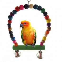 Chamsgend zabawka ptak papuga Parakeet Budgie Cockatiel klatka hamak huśtawka zabawki wisząca zabawka u7112