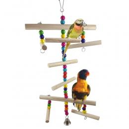 Zwierzęta domowe są ptak papuga Parakeet Budgie Cockatiel klatka wspinaczka drabiny hamak huśtawka zabawki wisząca zabawka akces