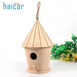 Drewniany ogród klatki dla ptaków gniazda domek dla ptaków