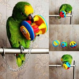 Śliczne Pet ptak z tworzywa sztucznego do żucia piłka łańcuch klatka zabawka dla papuga Cockatiel Parakeet zwierzęta domowe są p