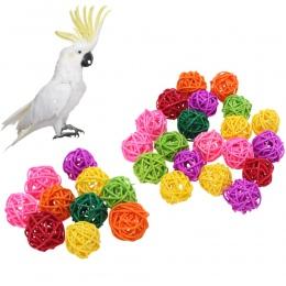 10 sztuk/20 sztuk papuga kula ratanowa zabawki ptak do żucia mielenia zabawki klatka dla ptaków Decor śmieszne dla zwierząt domo