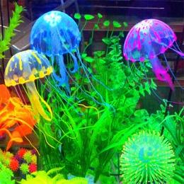 Świecące efekt sztuczne meduzy Fish Tank akwarium dekoracji Mini łódź podwodna Ornament podwodny zwierzę wystrój darmowa wysyłka
