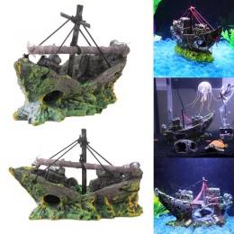 Żywicy domu ozdoba do akwarium wrak zatopiony statek ozdoba do akwarium żaglowiec Destroyer akwarium zbiornik zbiornik akwarium
