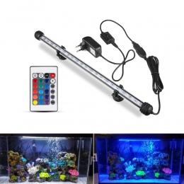 Akwarium LED Bar światła wodoodporna oświetlenie do akwarium 19/29/39/49 CM podwodne Aquario lampa akwarium oświetlenie dekoracy