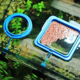Nowy akwarium pierścień do karmienia ryb zbiornika stacji pływające taca żywności podajnik kwadratowe koło akcesoria roślina wod