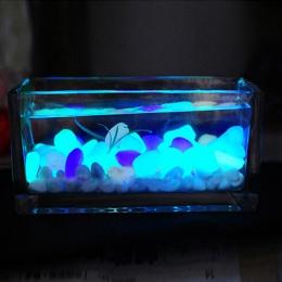 10 sztuk sztuczne kamyki kamienie Glow In The Dark ozdoby do domu dostaw świecące kostki brukowej ogród Fish Tank akwarium dekor