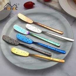 304 ze stali nierdzewnej nóż do masła deser do serów z dżemem krem złoty czarny, złoty, złoty nóż, zachodniej sztućce narzędzie