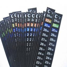 Akwarium akwarium akwarium termometr temperatura naklejki akcesoria do akwarium cyfrowy podwójny skala Stick-on wysokiej jakości