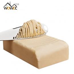 Ze stali nierdzewnej nóż do masła deser do serów z dżemem krem noże naczynia sztućce deser narzędzia Toast narzędzie śniadanie