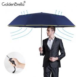 120 CM w pełni automatyczne podwójne duży parasol deszcz kobiety 3 składane odporny na wiatr, odporny na duży parasol mężczyźni