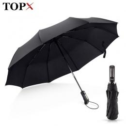 Odporny na wiatr składany Parasol automatyczny deszcz kobiety Auto luksusowe duże wiatroszczelne parasole deszcz dla mężczyzn cz