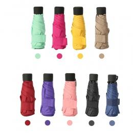 9 kolorów miniaturowy Parasol kieszonkowy kobiety UV małe parasole Parasol dziewczyny anty-uv wodoodporna przenośny Ultralight p
