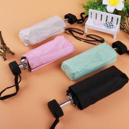 Mini kieszonkowy parasol przeciwsłoneczny moda składany deszcz parasol kobiet prezent dziewczyny anty-uv wodoodporne przenośne p