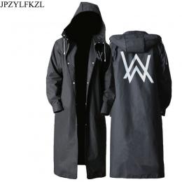 JPZYLFKZL stylowe EVA czarny płaszcz przeciwdeszczowy dla dorosłych Alan Walker wzór na zewnątrz męska długi styl piesze wyciecz
