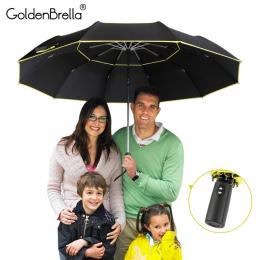 Wysokiej jakości 120 cm w pełni-parasol automatyczny mężczyźni deszcz kobieta podwójna warstwa 3 składane biznesu prezent paraso
