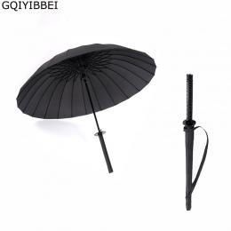GQIYIBBEI kreatywny długi uchwyt duży wiatroszczelny miecz samuraja parasol japoński Ninja-, takich jak słońce deszcz prosto par