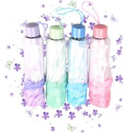 Kreatywny Apollo Cherry parasole kwiat przezroczyste Tri składane parasol składany pani Sakura parasole słoneczne na sprzedaż