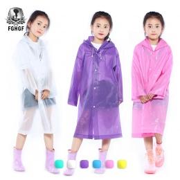 FGHGF EVA przezroczyste mody matowe dziecko płaszcz przeciwdeszczowy dziewczyna i chłopak odzież przeciwdeszczowa odkryty piesze