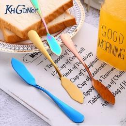 KHGDNOR ze stali nierdzewnej nóż do masła kolorowe deser do serów z dżemem krem nóż zachodniej sztućce śniadanie narzędzia
