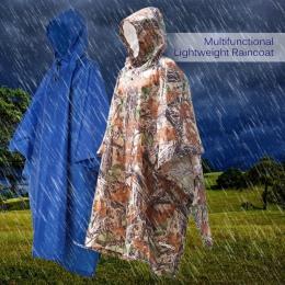 3 w 1 płaszcz przeciwdeszczowy plecak osłona przeciwdeszczowa wodoodporny płaszcz przeciwdeszczowy z kapturem piesze wycieczki,