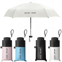 Anti-UV kieszonkowy mini Parasol deszcz kobiety wiatroszczelne trwałe 5 składane parasole słoneczne przenośny krem do opalania k