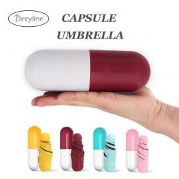 Fancytime Mini kapsułki parasol ochrona anty-uv parasole wiatroszczelna składane parasole deszcz parasol kieszeni dla kobiet i d