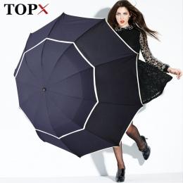 Podwójne Golf parasol deszcz kobiety wiatroszczelna 3 składany duży mężczyzna kobiet parasol nie-automatyczny biznes parasol dla