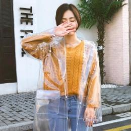 FreeSmily moda przeźroczysty płaszcz przeciwdeszczowy dla dorosłych piesze wycieczki na zewnątrz wędkarstwo płaszcz przeciwdeszc