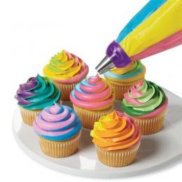 3 otwory narzędzie do dekoracji ciast narzędzie 3 kolory Mix konwerter dla ciastko krem kwiat oblodzenie rurociągi dysza konwert