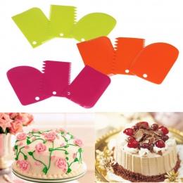 1 PC przydatne ciasto skrobak ciasto dekorowanie narzędzia do pieczenia gładkie krawędzi... jan19