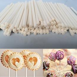 100 sztuk stałe papier rdzenia patyczki do lizaków 70mm * 3mm kij na patyku do kremówki cukierki tort czekoladowy Pop Cupcakes M