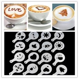 16 sztuk/paczka kawy formy inny projekt mleka ciasto Cupcake dekoracji Barista szablony szablon Strew Pad Duster...