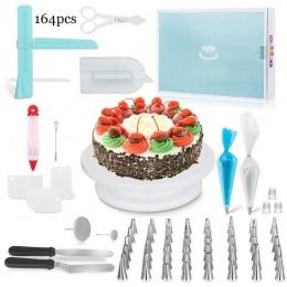 164 sztuka DIY narzędzie do pieczenia ciasto zestaw naczyń gramofon ciasto porady jednorazowe torba zestaw akcesoria kuchenne de