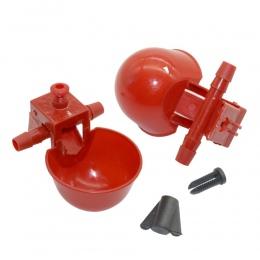 5 sztuk z kurczaka kubki do picia Quail waterer miski ptak czerwone szkło hodowli zwierząt narzędzia automatyczna karma dla ptak