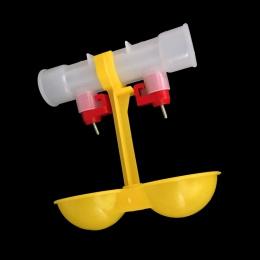 10 sztuk z kurczaka automat do wody podwójne wiszące Cup Ball poidło smoczkowe 25 cm sprzęt kurczaka hurtownia przepiórki podajn