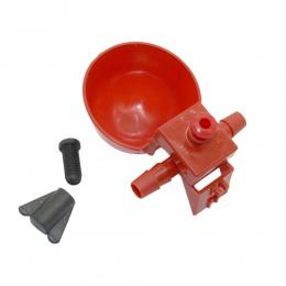 50 zestawów Red Quail Waterer karmniki dla zwierząt automatyczna karma dla ptaków karma dla drobiu kurczaka drób pijący wodę kub