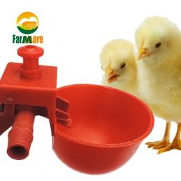 10 zestaw kurczaka Waterer kur przepiórki ptaki miski do picia wody do kurnik laska poidło smoczkowe drobiu artykuły dla zwierzą