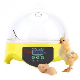 Mini inkubator do jaj 7 jaj pojemność inkubatora wylęgu maszyny kaczki kurczaka jaj Hatcher elektronicznych inkubator automatycz