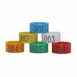 Średnica wewnętrzna 2.0/1.8/1.6 cm z tworzywa sztucznego typu otwartego klamra kurczaka kaczki gęsi 6 kolorów cyfrowy pierścień