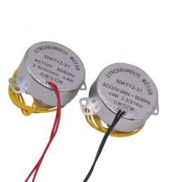 1 sztuk inkubator automatyczne toczenie jaj silnika AC220V lub AC110V silnik synchroniczny 2.5/3r/min CW/CCW 50KTYZ-21 gospodars