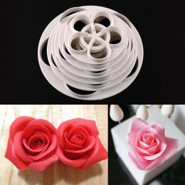 6 sztuk Rose kremówka ciasto duży forma do ciastek Sugarcraft gumy gotowanie ozdabianie wiertła DIY ciasto forma kuchenna akceso