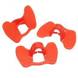 30 sztuk czerwony najnowsze brak śruby kiełbaski z kurczaka bażant gogle uniwersalny Anti-dziobania wiadro oczu kurzych zarządza