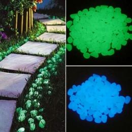 50 sztuk Glow in the Dark otoczaki do ogrodu blask kamienie skały na chodniki ścieżki ogrodowe/taras trawnik ogród Yard Decor Lu