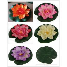 1 sztuk sztuczne lotosu lilia wodna pływający kwiat staw zbiornik roślin Ornament 10 cm do domu ogród staw/oczko wodne dekoracji