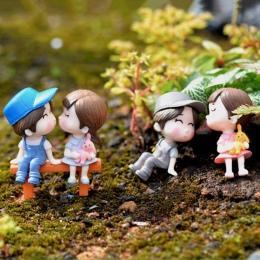 3 sztuk/zestaw miłośników krzesło miniaturowe krajobraz DIY ozdoba ogród domek dla lalek wystrój