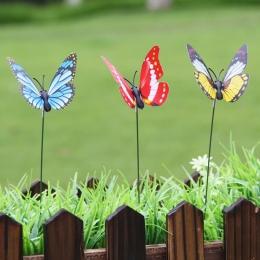 20 sztuk/partia sztuczny motyl dekoracje ogrodowe symulacji Butterfly Stakes podwórku roślin trawnik Decor fałszywy Butterefly l