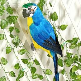 25/35 cm Handmade symulacja papuga kreatywne pióro trawnik figurka ozdoba zwierząt ptak ogród ptak Prop dekoracje